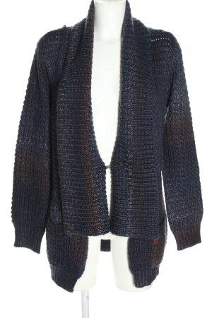 Khujo Strick Cardigan blau-braun Farbverlauf Casual-Look