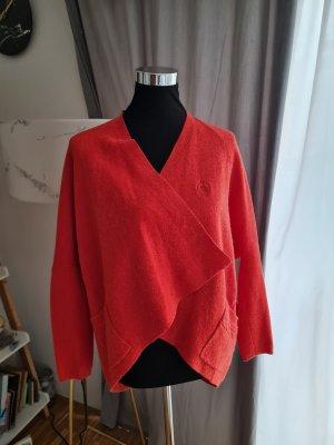 Khujo Cardigan in maglia arancione scuro-ruggine
