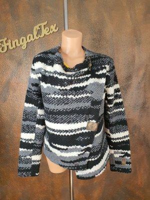 Khujo Knitted Blazer black-light grey