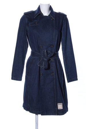 Khujo Trenchcoat blau Casual-Look