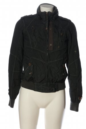 Khujo Übergangsjacke schwarz-braun Casual-Look