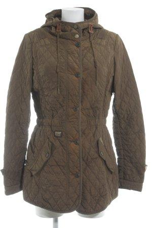 Khujo Übergangsjacke olivgrün Steppmuster Vintage-Look