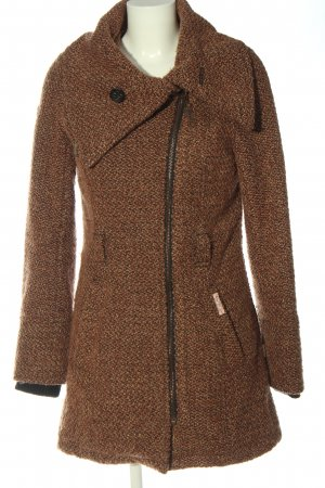 Khujo Abrigo de entretiempo marrón moteado elegante