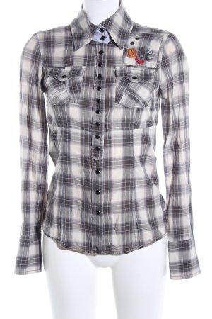 Khujo Vintage Camicia a scacchi motivo a quadri stile casual