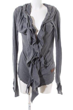 Khujo Vintage Shirtjacke hellgrau meliert Casual-Look