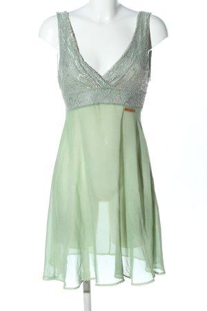 Khujo Vintage Robe en dentelle vert élégant