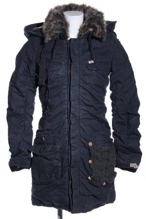 Khujo Vintage Abrigo de invierno azul look casual
