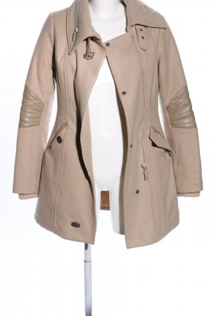 Khujo Vintage Wool Coat nude quilting pattern business style