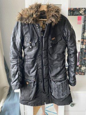 Khujo Chaqueta de invierno negro-gris antracita