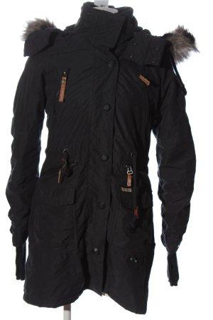 Khujo Winterjacke schwarz Casual-Look