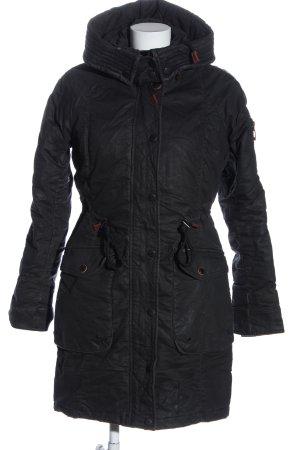 Khujo Giacca invernale nero stile casual
