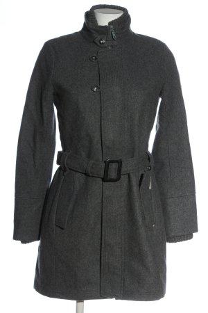 Khujo Cappotto invernale grigio chiaro puntinato stile casual