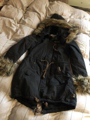 Khujo Winterjas zwart-bruin