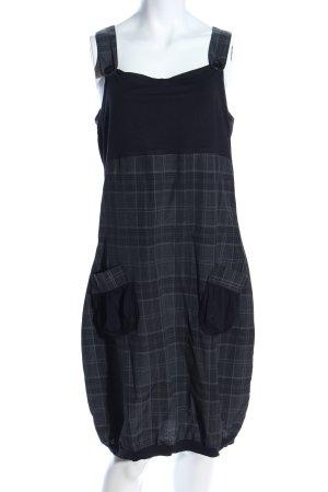 Kiabi Woman Trägerkleid schwarz-hellgrau Karomuster Business-Look