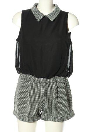 KIAH Jumpsuit schwarz-weiß Punktemuster Casual-Look