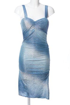 KIAH Midikleid blau Farbverlauf extravaganter Stil