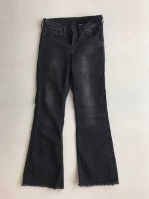 H&M Jeans 7/8 gris foncé-noir