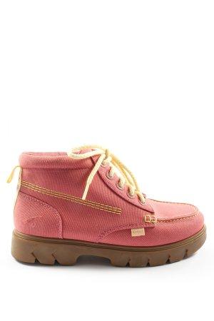 Kickers Schnür-Stiefeletten pink Casual-Look