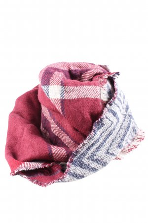 Kik Fringed Scarf check pattern casual look