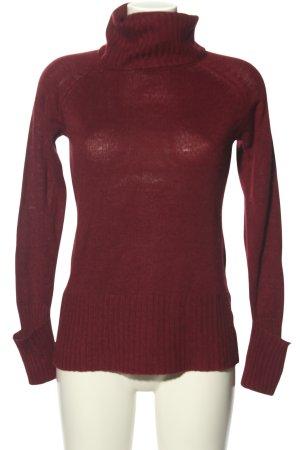 Kik Turtleneck Sweater red casual look