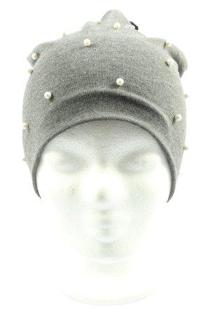 Kik Chapeau en tricot gris clair moucheté style décontracté