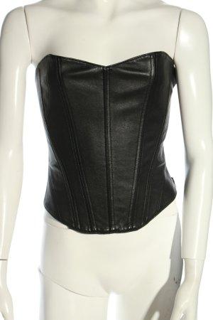 Kiki de montparnasse Corsagen Top schwarz extravaganter Stil