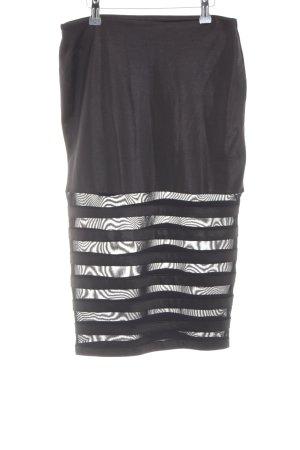 Kikiriki Stretchrock schwarz Streifenmuster Elegant