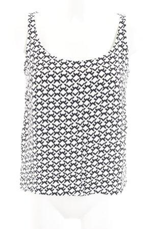 Kilian kerner Blouse sans manche noir-blanc motif abstrait style décontracté