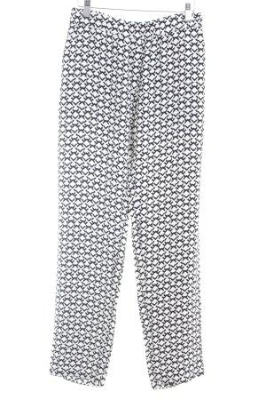 Kilian kerner Marlenehose schwarz-weiß abstraktes Muster Elegant