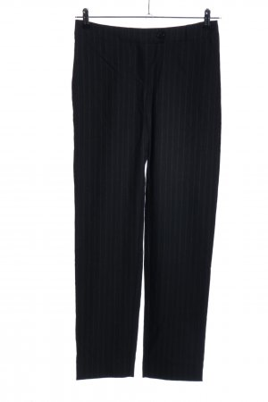 Kilian kerner Pantalon en jersey noir motif rayé style d'affaires