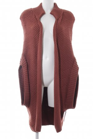 Kilian kerner Veste en tricot rouille style décontracté
