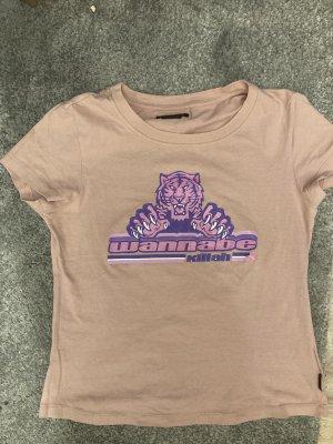Killah T-shirt imprimé or rose