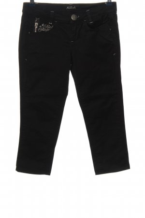 Killah 3/4 Length Trousers black embroidered lettering casual look