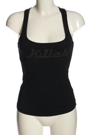 Killah Basic topje zwart geborduurde letters casual uitstraling