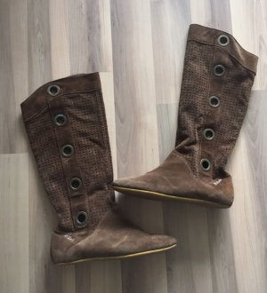 Killah Jackboots bronze-colored leather