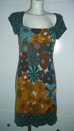 Killah Eyecatcher Sommer Print Kleid stretchig mehrfarbig Streetstyle Gr L 36-38