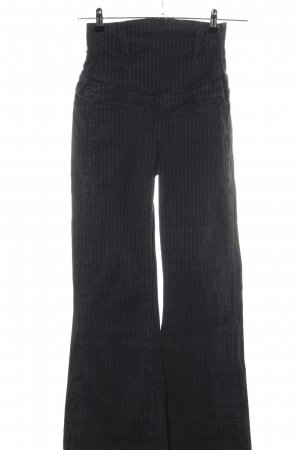 Killah High-Waist Hose schwarz Streifenmuster Casual-Look