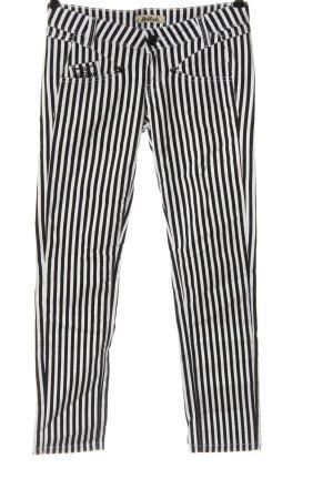 Killah Pantalon taille basse noir-blanc imprimé allover style décontracté
