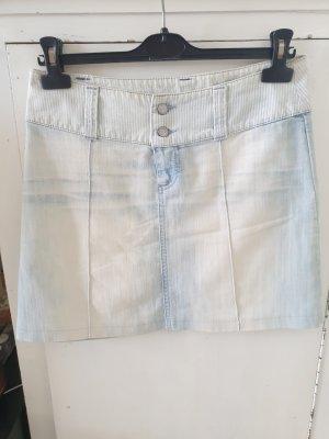 Killah Jupe en jeans blanc cassé-bleu azur