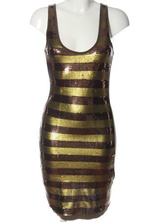 Killah Minikleid bronzefarben-goldfarben Streifenmuster Elegant