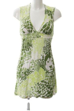 Killah Mini Dress green-white allover print casual look