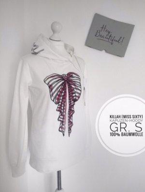 Killah Miss Sixtinische Hoodie kapuzenpulli Pullover Oberteil weiß Schleife blogger vintage streetwear casual sportlich