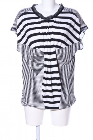 Killah Oversized Shirt weiß-schwarz Streifenmuster Casual-Look
