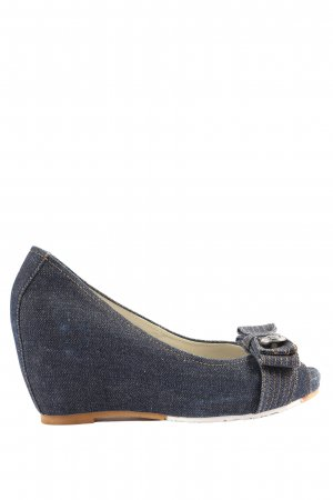 Killah Peeptoe Pumps blau Casual-Look
