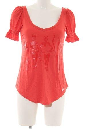 Killah Print-Shirt rot Motivdruck Casual-Look
