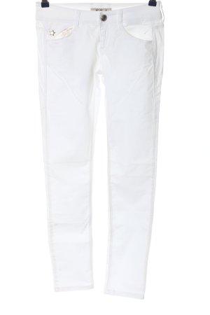 Killah Drainpipe Trousers white simple style