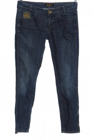 Killah Tube Jeans blue embroidered lettering casual look