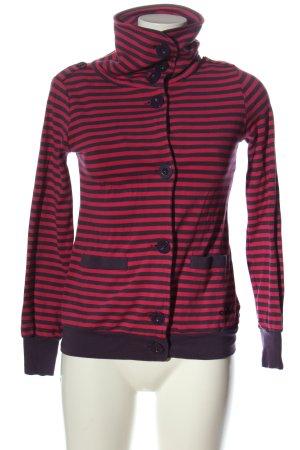 Killah Shirt Jacket red-lilac striped pattern casual look