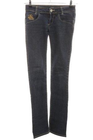 Killah Slim Jeans schwarz Schriftzug gedruckt Casual-Look