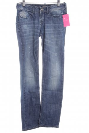 Killah Straight-Leg Jeans stahlblau Used-Optik